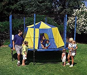 JumpSport Big Top Or AlleyOOP Outback Trampoline Tent | Cushy & Elastic No-Pole Safety Design | Giant Size 11' Across, 5.5' Tall | Have A Backyard Campout | Trampoline & Enclosure Sold Separately