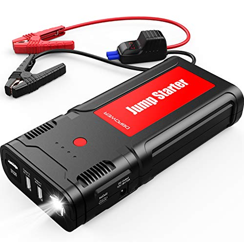 Best Price DBPOWER 2500A 21800mAh Portable Car Jump Starter for up to 8.0L Gas/6.5L Diesel Engines, ...