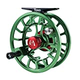 Maxcatch Toro Series Fly Fishing Reel with Large Arbor, CNC-Machined Aluminum Alloy Body: