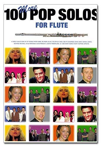 100More Pop Solos For Flute–Partitions pour Flûte] 100Pop Songs spécialement conçu arrangés de Jack Long pour flûte avec les complet AKKORD symboles