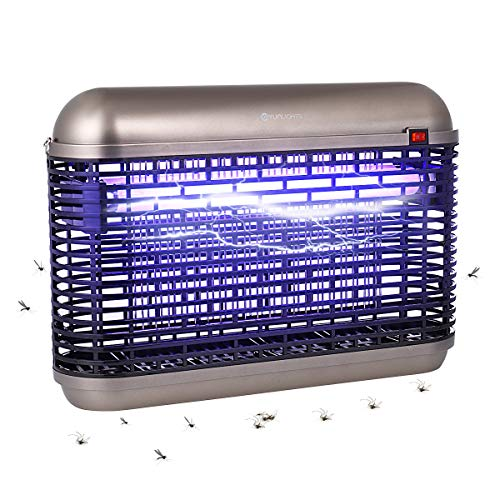 YUNLIGHTS Insektenvernichter Elektrisch Mückenlampe 20W, Einstöpseln Elektrischer Insektenvernichter mit UV-Licht, Mückenkiller Fliegenkiller/Mückenvernichter für Innen Draußen