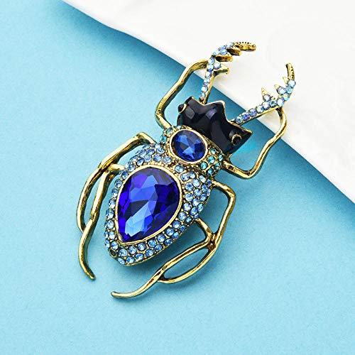 Grandes broches de escarabajo de cristal para mujer, Unisex, mariquita, insectos, fiesta, broche informal, pines, regalos de joyería