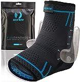 AGILE NOW Fußbandage Upgraded Sprunggelenkbandage Fußgelenkbandage Knöchelbandage Bandage Sprunggelenk (L)