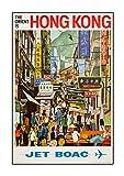 Boac Hong Kong, A3 Poster, Boac, Vintage, Fotografie, Old