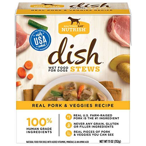 Rachael Ray Nutrish Dish Stews Natural Wet Dog Food, Real Pork & Veggies, 11 Ounces (Pack of 6), Grain Free