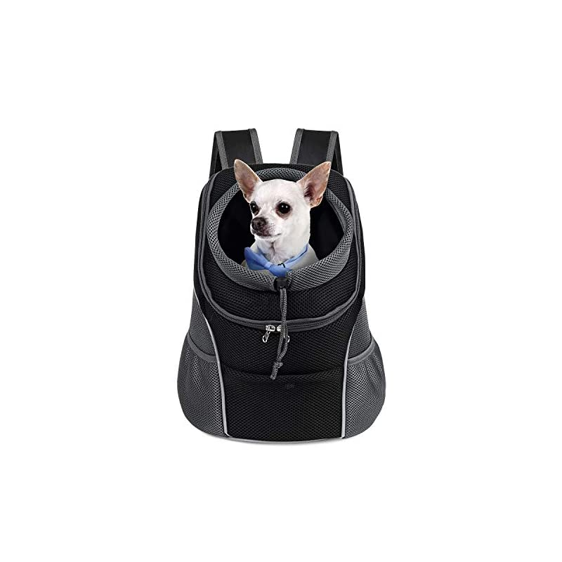 dog supplies online woyyho pet dog carrier backpack puppy dog travel carrier front pack breathable head-out backpack carrier for small dogs cats rabbits(m(up to 10 lbs), black)