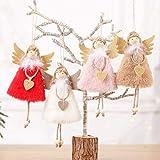 DFVVR - Colgante decorativo para árbol de Navidad (4 unidades), diseño de ángel