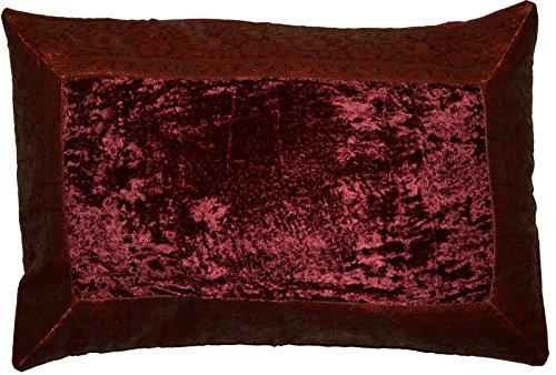 Deko-Kissenbezüge Kissenhülle Samt Brokat Asiatisch Indisch Orientalisch Bezug Kissen 50x30 cm (Weinrot)