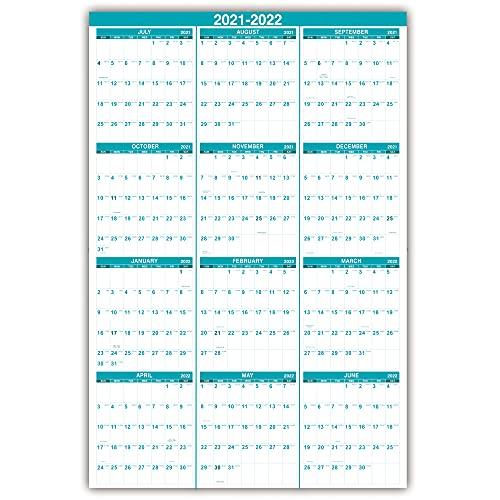 Julian Calendar 2022.2021 2022 Yearly Wall Calendar 2021 2022 Wall Calendar With Julian Date July 2021 June 2022 One