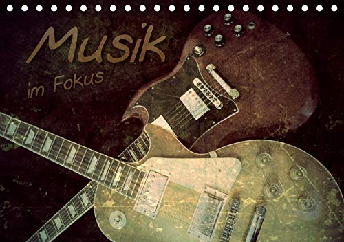 Musik im Fokus (Tischkalender 2020 DIN A5 quer): Musikinstrumente präsentieren sich im Vintage-Style. (Monatskalender, 14 Seiten )