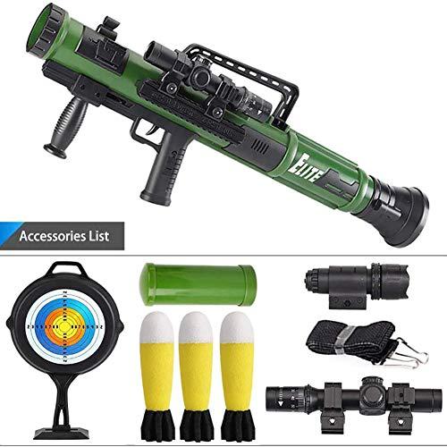 Yxp Kinder Spielzeug-Kanonen- Mörser Rakete Jedi Pursuit Granate Jungen Pat Feuer Kanone,Grün