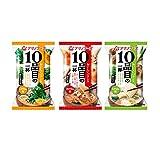 アマノフーズ フリーズドライ 味噌汁 10品目の一杯 3種30食詰め合わせセット(おみそ汁)
