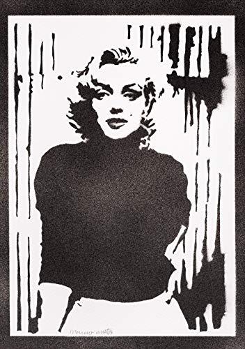 Marilyn Monroe Poster Plakat Handmade Graffiti Street Art - Artwork