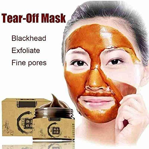 Herbal Refining Peel-Off Mask,Tearing Shrinks Pores Mask Remove Blackheads 120ml (1PCS)