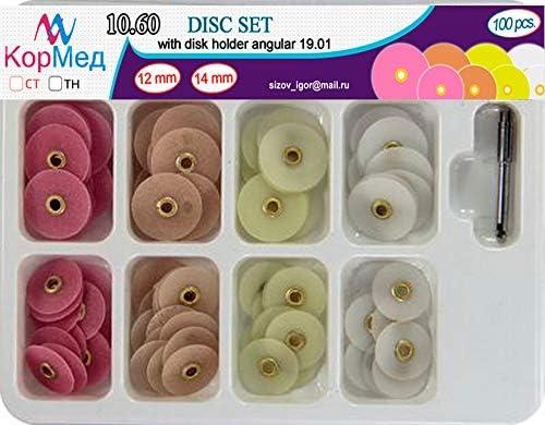 Zubastick Dental Finishing Polishing Discs Universal Kit 100 pcs + Mandrel