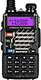 Baofeng UV-5R+ Plus UHF VHF Long Range Dual Band Ham Amateur Two Way Radio, Black