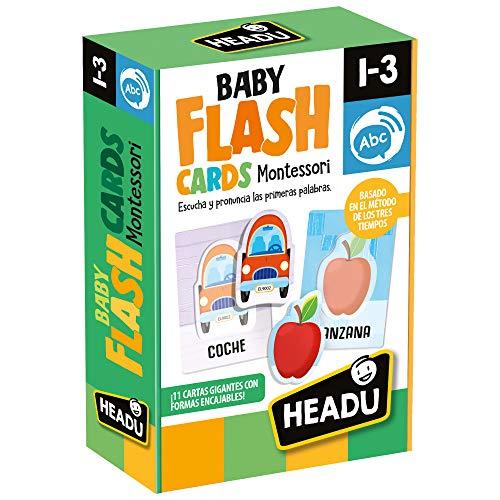 Naipes Heraclio Leverantör – Montessori Baby Flash cards Lyshcards Lyssna och känn dina första ord för att lära sig, grön (1043736)