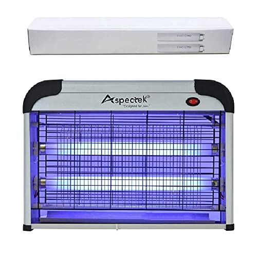 ASPECTEK Powerful 20W Electronic Insect Indoor Killer, Bug Zapper, Fly Zapper, Mosquito Killer-Indoor Use Including Free 2 PACK Replacement Bulbs