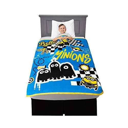 Franco Kinder-Bettwäsche aus weichem Plüsch, Micro-Raschel-Überwurf, 116,8 x 152,4 cm, Minions aus Ich - Einfach unverbesserlich