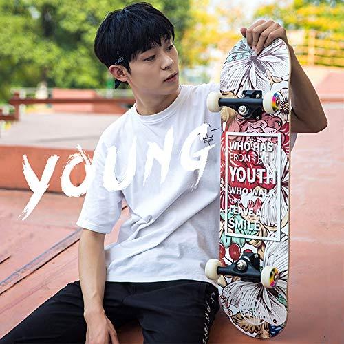 Skateboards Deluxe, Longboard Special Edition Complete Board Mit Hochgeschwindigkeits-ABEC-7-Lagern, Drop-Through Freifahrt Skaten Kreuzer Bretter Für Erwachsene Kinder Teenager