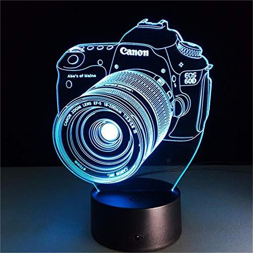 3D-LED-Nachtlicht, Original-Kamera-Actionfigur, 7 Farben, Touch-Optik, optische Täuschung, Tischlampe, Heimdekoration, Modell