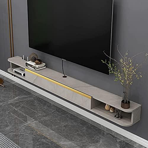 Montado en la pared TELEVISOR Gabinete, decoración flotante. TELEVISOR Gabinete de pie, almacenamiento flotante TELEVISOR Gabinete de unidades, Centro de entretenimiento de medios Muebles para el hoga