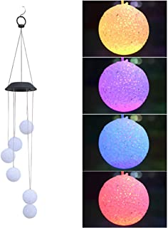 POPETPOP Wind Chimes LED Solar Wind Chimes Ball Wind Chimes Waterproof Color Changing LED Wind Chimes for Outside for Cour...