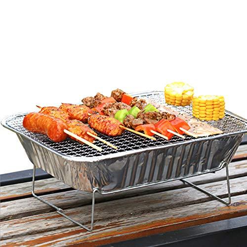 51t L322DnL. SL500  - Mothcattl Barbecue-Ofen, Einweg-Grill, tragbar, für Zuhause, Outdoor, Picknick, Grill mit Holzkohle silber