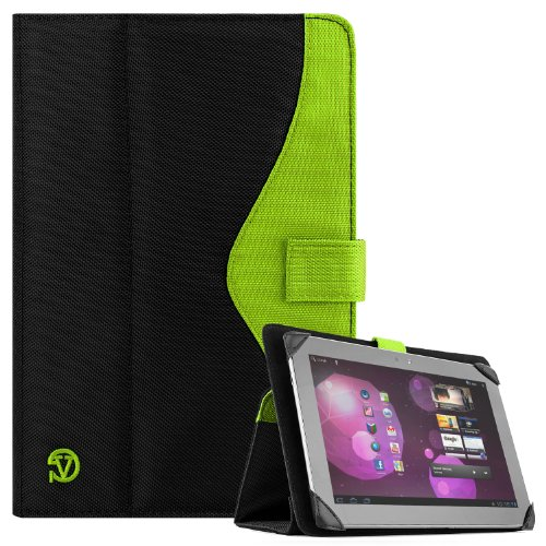 SOHO Portfolio Stand Nylon Detachable Flip Cover Case Lime NEON Green for Asus Transformer Pad 10.1 Tablets TF300TL, TF300T, TF700T, TF101