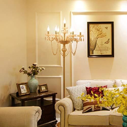 Moderne Stehlampen Kristall Stehleuchte Europäischen Wohnzimmer Hochzeit Kerze Stehleuchte Design Leuchte Beleuchtung (Farbe Messing)