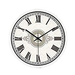 ZHAS Bedroom Wall Clock, Hotel Coffee Shop Tea Shop Study Living Room Balcony Entrance The Mall Silent Wall Clock Metal Wall Clock 20-40CM