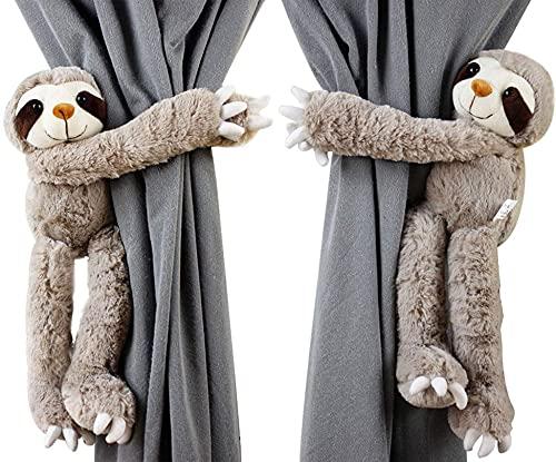 Stuffed Sloth Curtain Tiebacks