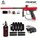 Maddog Dye Rize CZR Advanced HPA Paintball Gun Package - Red/Black