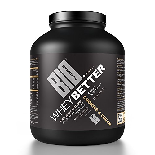 Bio-Synergy Wei Betere Cookies & Crème Wei Eiwit Isolaat, 2.25kg (75 porties)