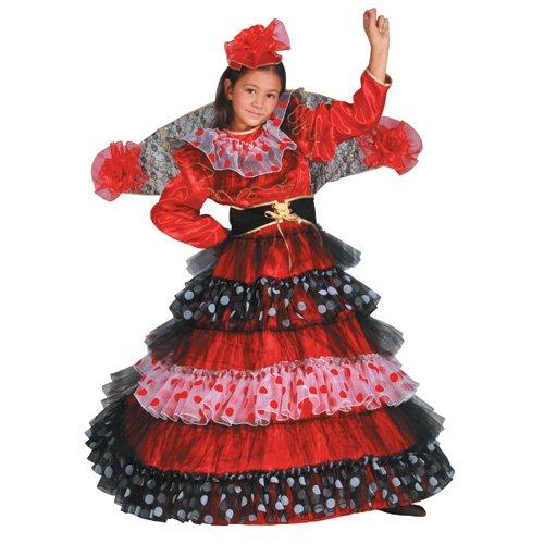 Dress Up America Mädchen Flamenco Tänzerin Kostüm