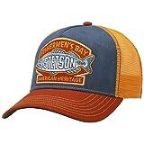Stetson Gorra Trucker Fishermen´s Bay Hombre - Camionero de Beisbol Malla Snapback, con Visera, Forro, Forro Verano/Invierno - Talla única Naranja