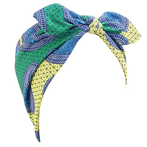 gulang-keng Diadema anudada para mujer, diseño africano, diadema elástica con turbante ancho, accesorios para el pelo, regalo de joyería para el cabello