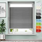 Sanfree - Estor plisado para ventana (fijación sin agujeros, protección solar y privacidad),...