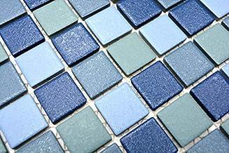 MOS18-0407/_m C/éramique Bleu//blanc brillant Mosa/ïque mosa/ïque carrelage de piscine