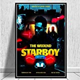 JIUJIUJIU Poster druckt Daft Punk The Weeknd Starboy Hip