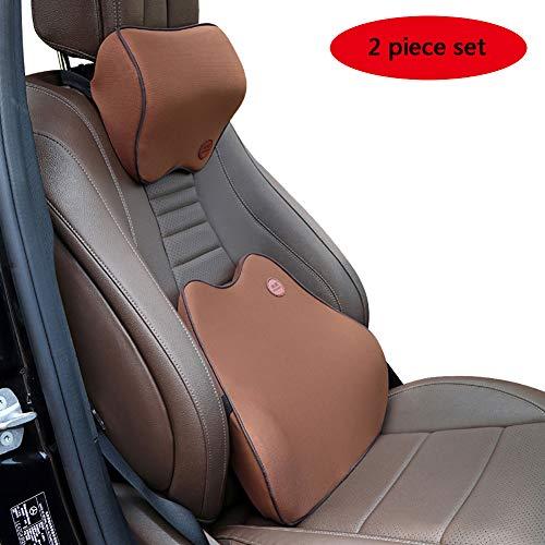 CBPE Autostoel met hoge dichtheid, rugsteun met nekkussen, ergonomisch design, universele pasvorm, geschikt voor kantoor, auto, familie