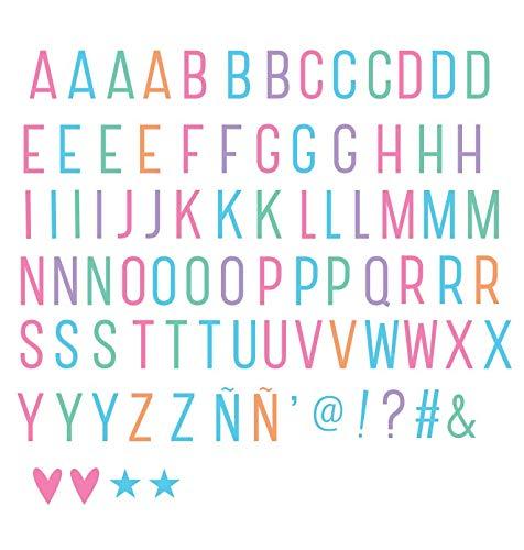A Little Lovely Company ltle005 – Lettres et symboles pour lightbox, couleur pastel