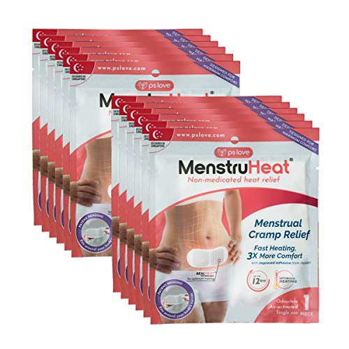 MenstruHeat Heating Pad for Menstrual Cramp Relief and PMS Comfort from Period Pain - Pack of 12 (Patches/Wraps/Pads)