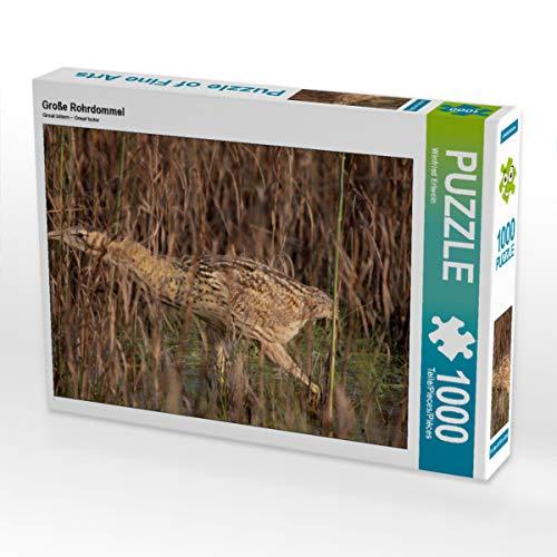 CALVENDO Puzzle Große Rohrdommel 1000 Teile Lege-Größe 64 x 48 cm Foto-Puzzle Bild von Winfried Erlwein