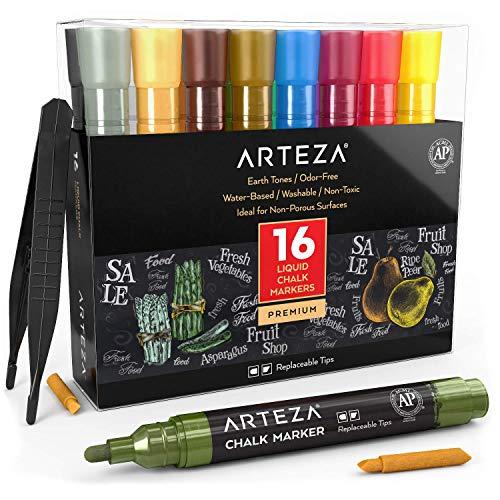 Arteza Rotuladores de tiza líquida | Set de 16 Colores pastel |...