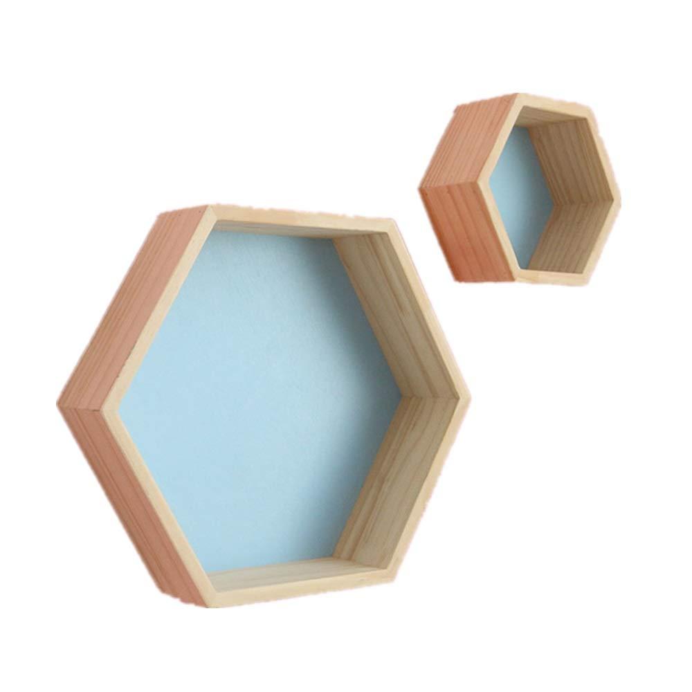 estantes flotantes Estante de Madera Duck Woodworks estantes hexagonales Estante de Panal estantes de Roble hex/ágono Estante de Roble Estante de Pared Estante geom/étrico Estante Hexagonal