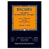 ARCHES Aquarellpapier Bloque de Acuarela, 100% Algodon, Blanco, 36x26x1 cm, 12