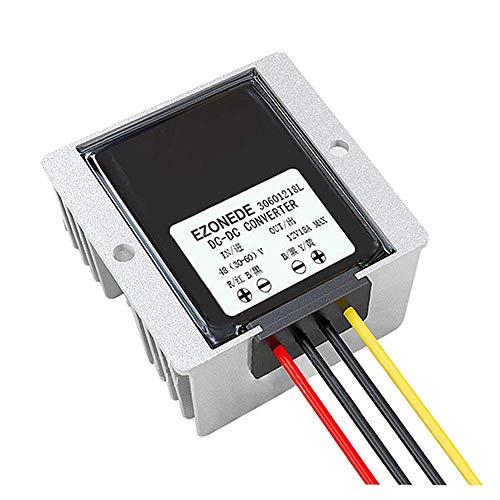 Nuevo perfecto 1PCS DC a DC Convertidores 48V a 12V 18A 216W Módulo reductor reductor DIY Fuente de alimentación Transformador Regulador de voltaje para LED de audio para automóvil