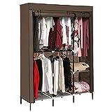 Aceshin Clothes Closet Organizer Storage Portable Wardrobe Fabric Cabinet (Coffee)