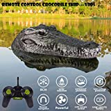 Abvenc Crocodile Head RC Boat, 2.4G Remote Control Electric Racing Boat with Artificial Crocodile Head Spoof Toy Suitable for Swimming Pools, Ponds, Small Lakes, Gardens (Green)